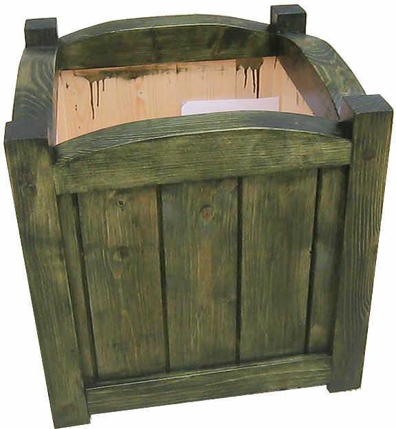 Drewniana kwadratowa donica ogrodowa 15 kolorów - Mundo 3X