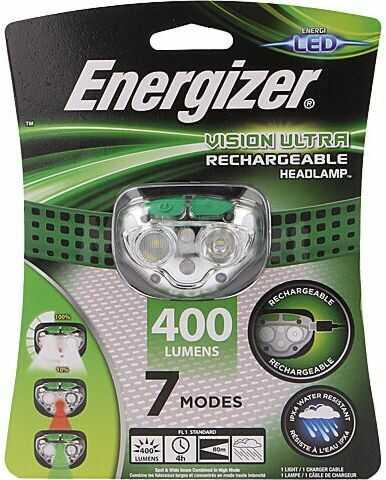 Latarka czołowa LED ENERGIZER wodoodporna 4h 400lm Kolor zielony