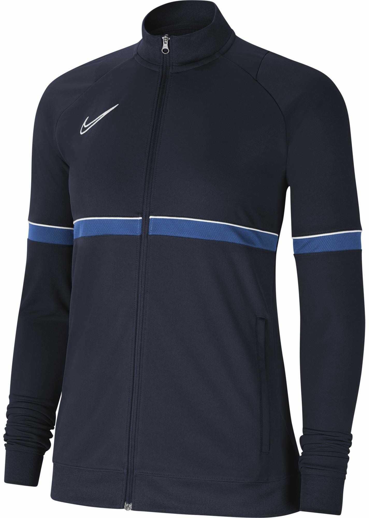Nike Damska kurtka damska Academy 21 Track Jacket Obsidian/biały/królewski niebieski/biały XL