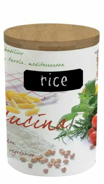 PORCELANOWY POJEMNIK NA RYŻ 1 kg Rice - Mediterraneo (752 CUCI)