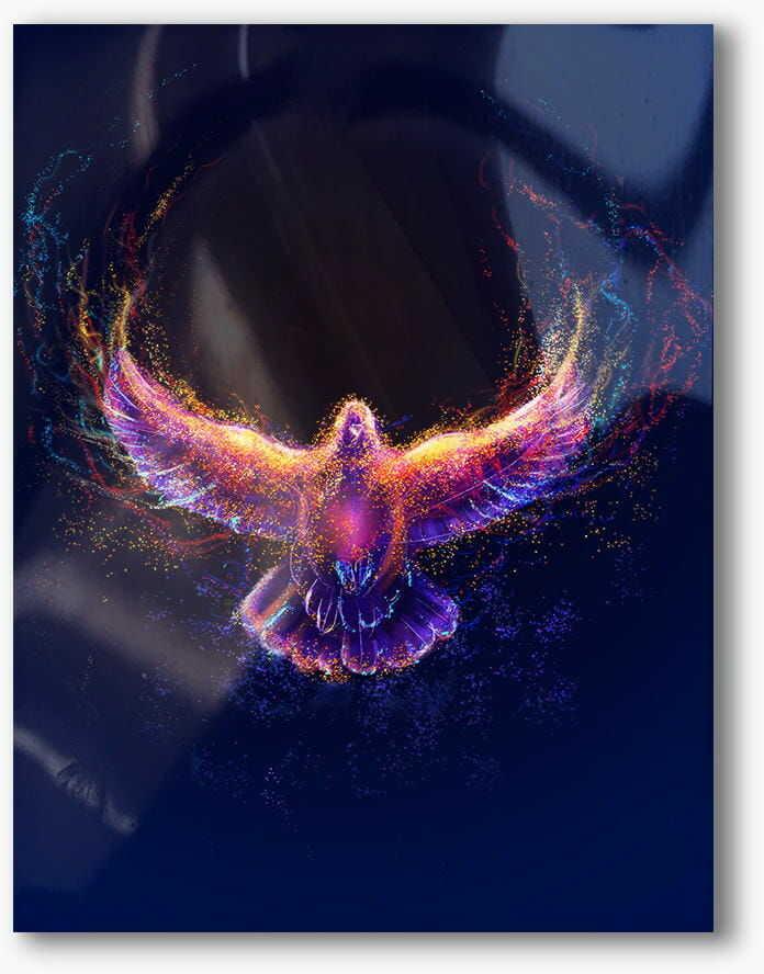 Duch Święty, nowoczesny obraz religijny plexi