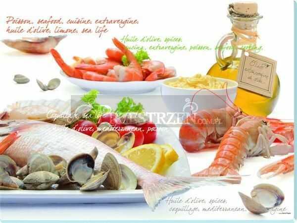 SZKLANA DESKA KUCHENNA NUOVA R2S - Pesce - Frutti di Mare (PES)