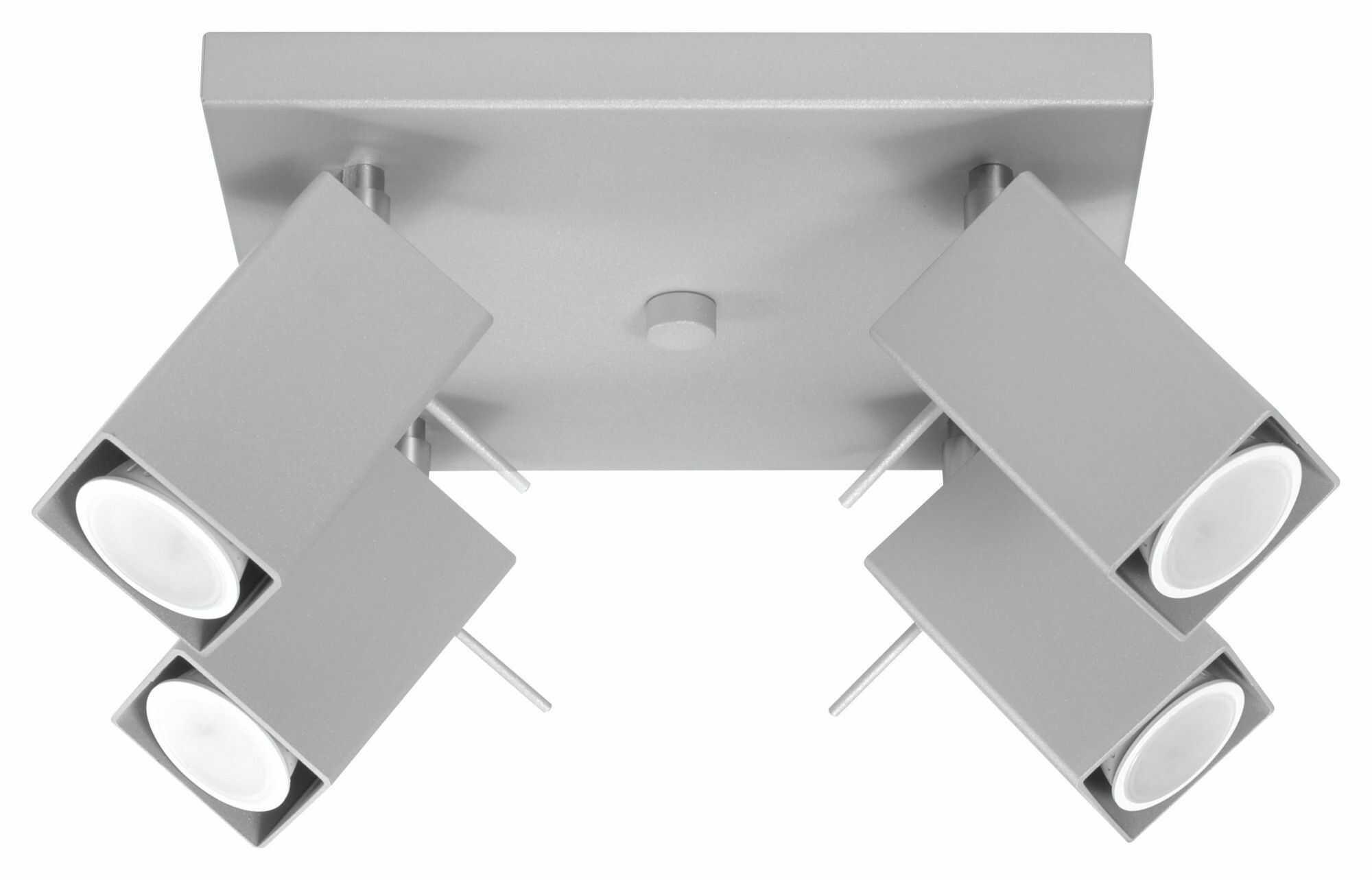 Łazienkowy plafon LED E789-Merids - szary