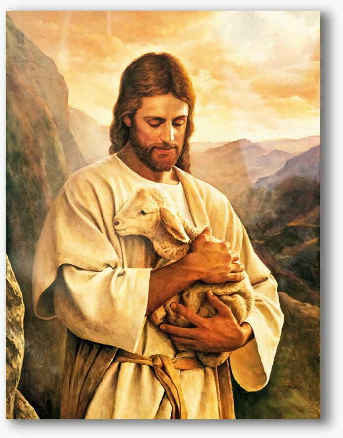 Chrystus Dobry Pasterz, nowoczesny obraz religijny plexi