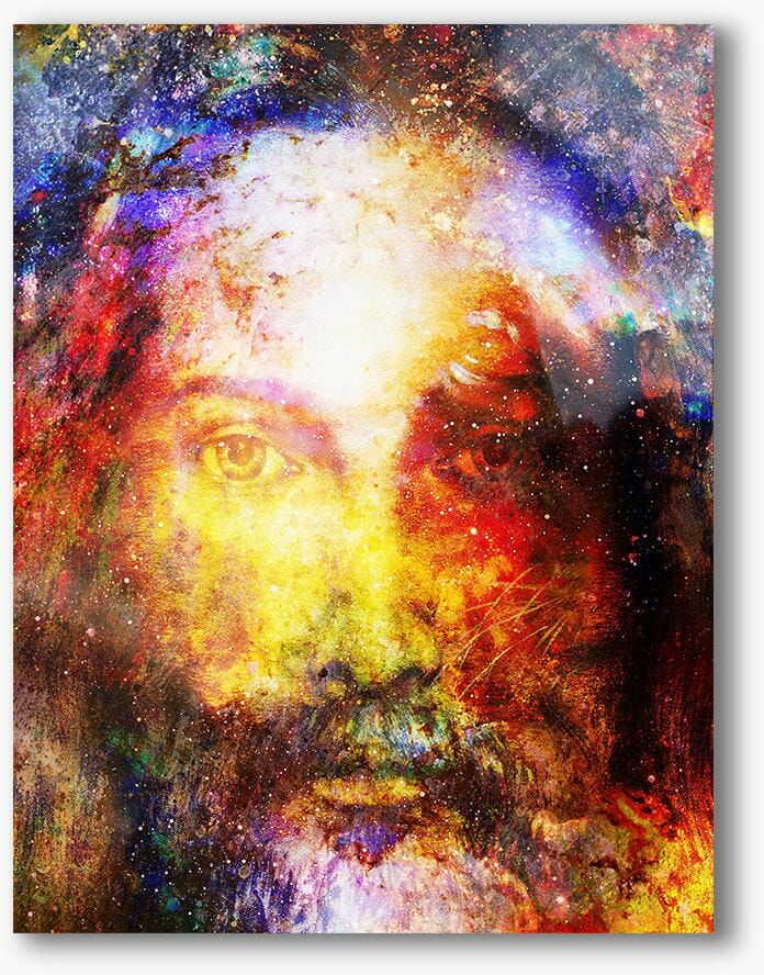 Jestem, który Jestem, nowoczesny obraz religijny plexi