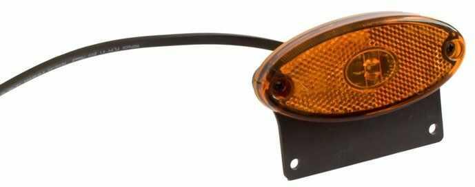 Lampa obrysowa boczna LED do przyczepy Asp ck Flatpoint II z uchwytem