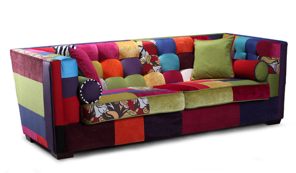 Sofa EsteliaStyle Giulietta, kanapa 2-os., kanapa patchwork