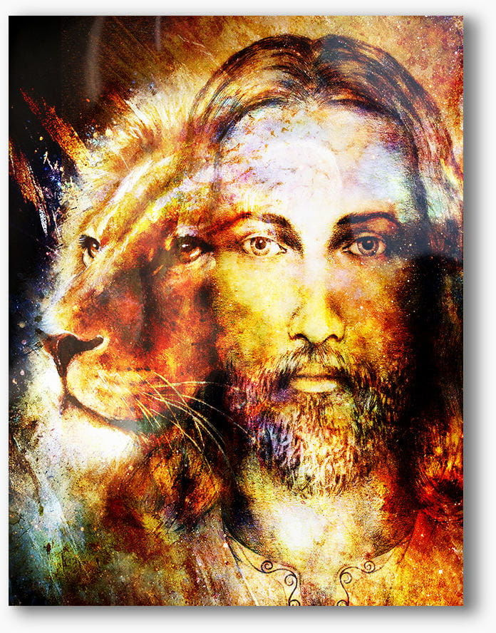 Jezus-Lew Judy, nowoczesny obraz religijny plexi