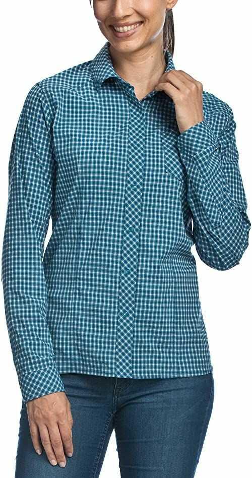Tatonka Damska bluzka Camden W''s Long Sleeve Shirt, Iris Blue, 36, M383