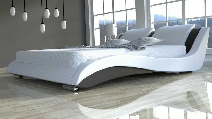 Łóżko do sypialni Stilo-2 Slim z materacem kieszonkowym