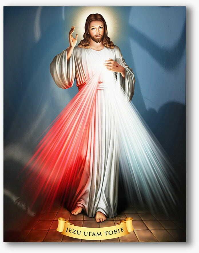 Jezus Miłosierny, nowoczesny obraz religijny plexi