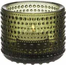 Iittala Kastehelmi świecznik szklany, zielony mech 6,4 cm