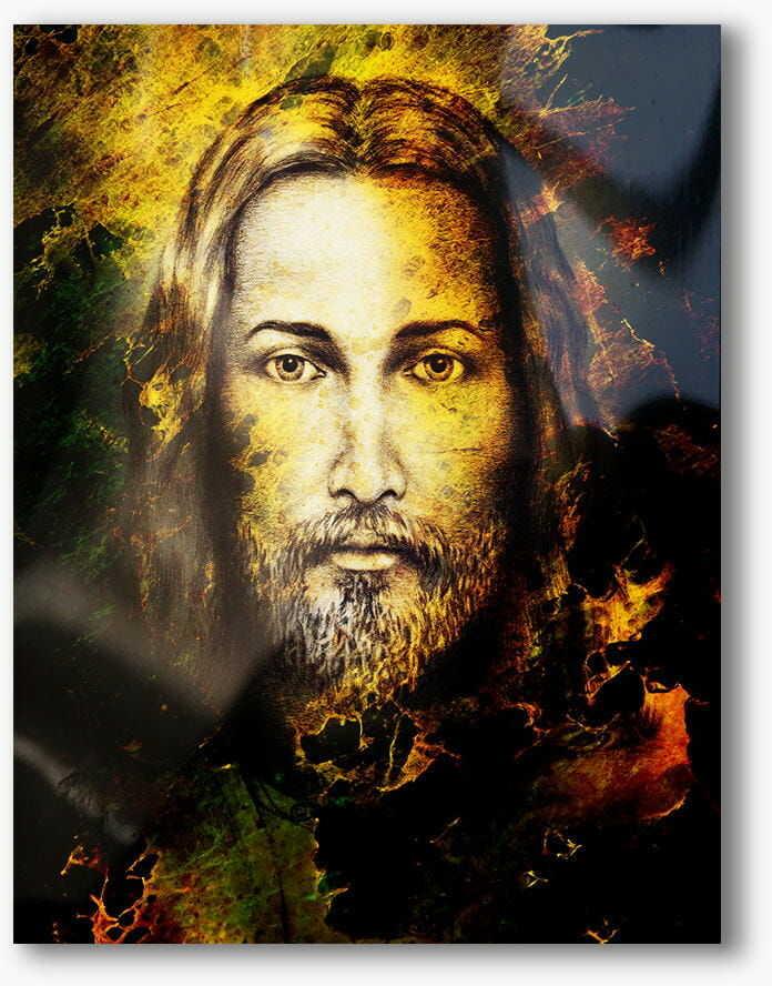 Jezus, nowoczesny obraz religijny plexi