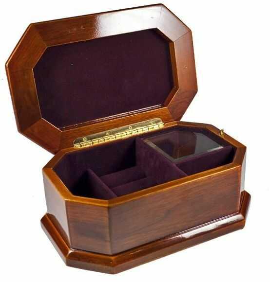 Pudełko na biżuterię wysokie z kwiatami