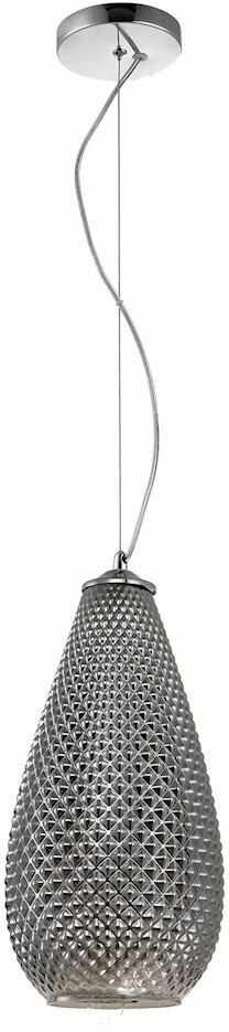 Milagro PETRA ML5480 lampa wisząca chrom klosz owalny z widocznymi wytłoczeniami zwisa na pofalowanym zawiesiu 1xE27 18cm