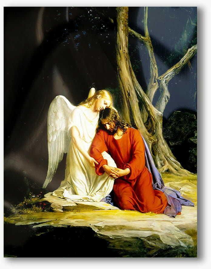 Chrystus w Getsemani, nowoczesny obraz religijny plexi