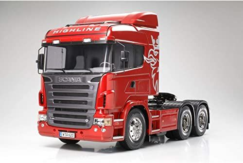 TAMIYA TMYTAM56323 300056323 - Scania R620 Highline, zdalnie sterowany 3-osiowy ciągnik ciężarówki, 1:14, zestaw do montażu