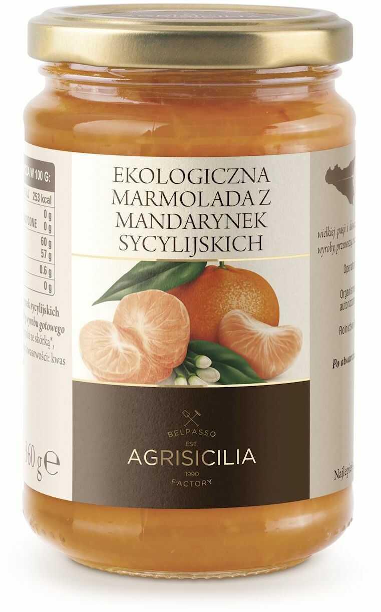 Marmolada z mandarynek sycylijskich bio 360 g - agrisicilia