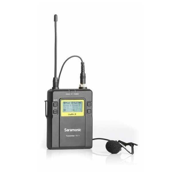 Saramonic TX9 - nadajnik z mikrofonem do systemu bezprzewodowego uwmic9 Saramonic TX9