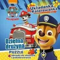 Dzielna drużyna Psi Patrol układanka kolorowanka - Opracowanie Zbiorowe