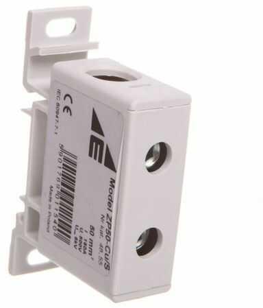 Złączka szynowa przelotowa 2-przewodowa 16-70mm2 szara ZP50 Cu / s 48.55