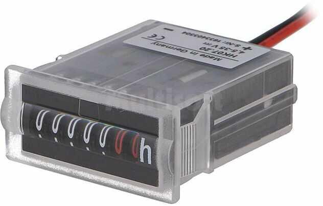 Licznik elektromechaniczny czasu pracy KUBLER Zakres:0 99999,99h