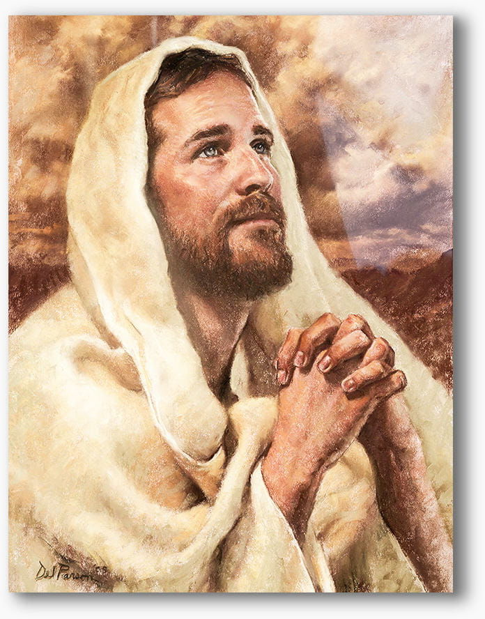Chrystus w modlitwie, nowoczesny obraz religijny plexi