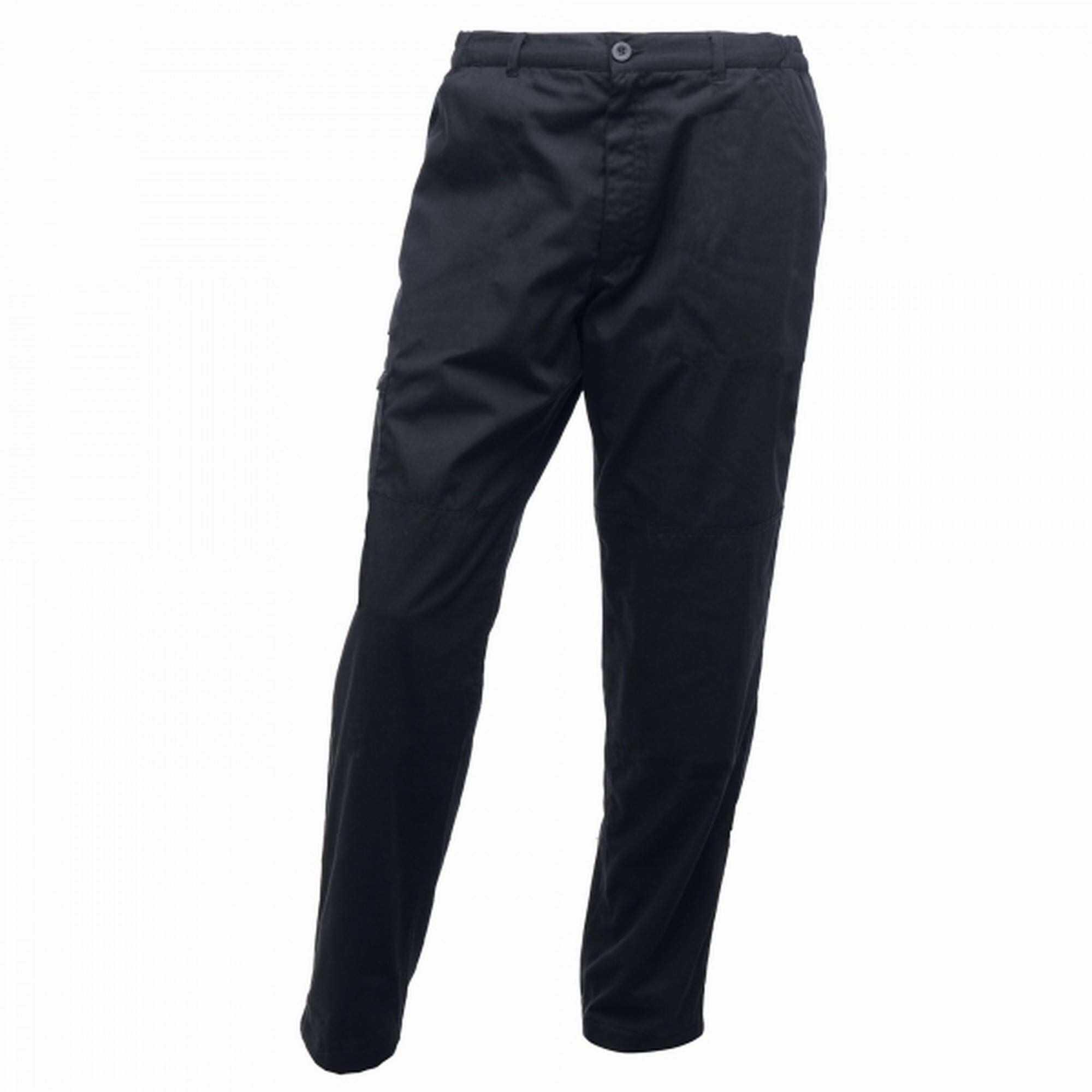 Regatta męskie profesjonalne Pro Cargo wytrzymałe wodoodporne spodnie z wieloma kieszeniami, granatowe, rozmiar: 100 cm