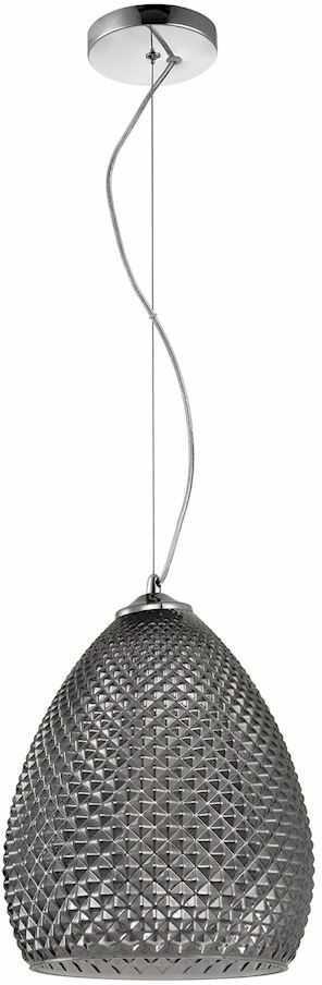 Milagro FIJI ML5545 lampa wisząca chrom wysokiej jakości metal oraz eleganckie szkło ozdobne wytłoczenia 1xE27 23cm