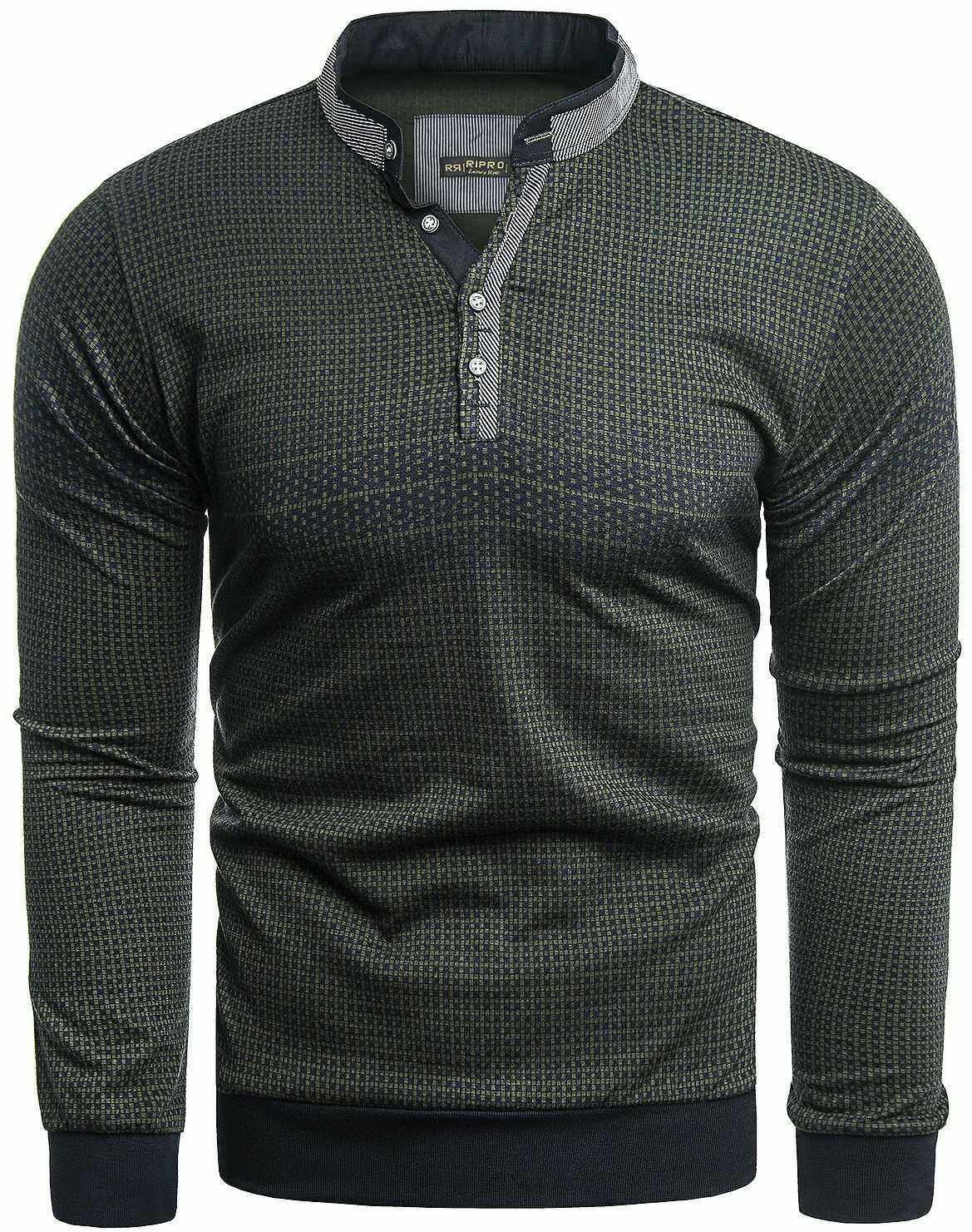 Sweter męski 8055 - czarny
