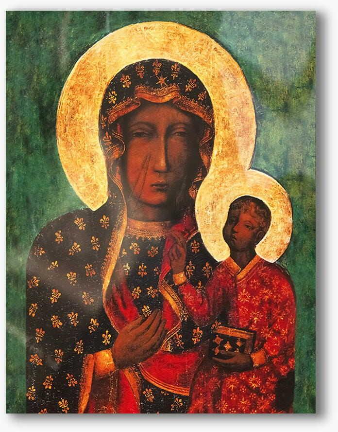 Matka Boska Częstochowska, nowoczesny obraz religijny plexi