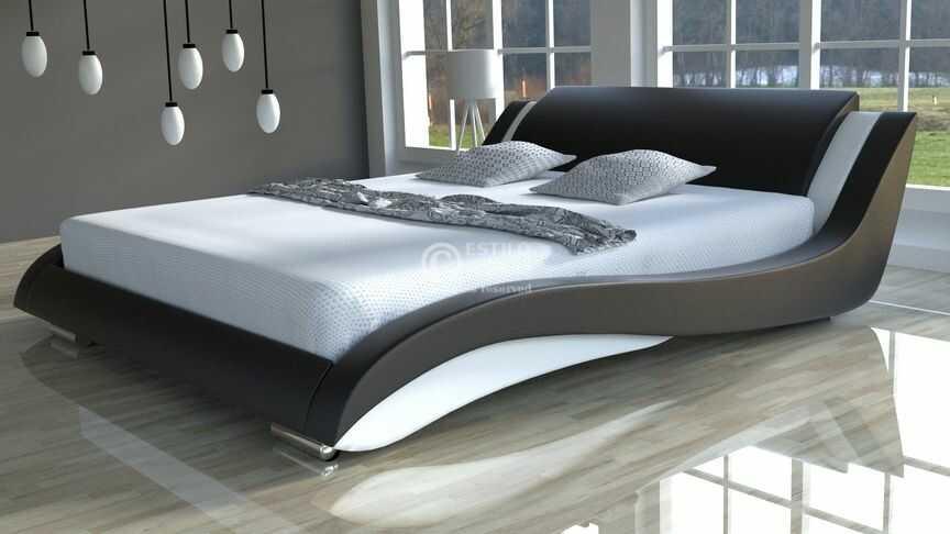 Komplet łóżko do sypialni Stilo-2 Lux Slim z materacem 7-stref