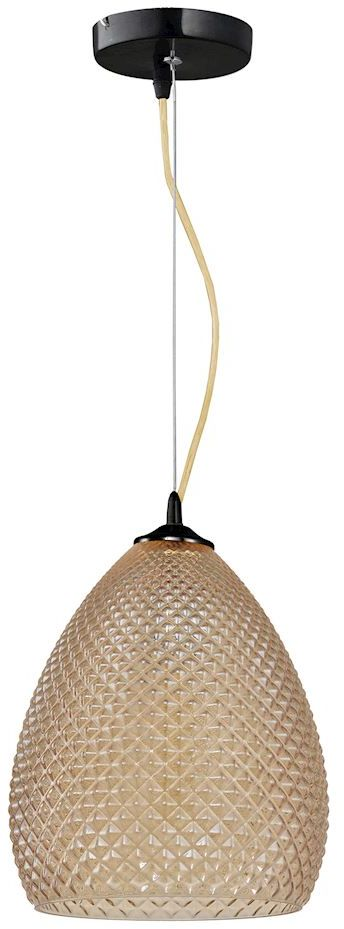 Milagro FIJI ML5546 lampa wisząca wysokiej jakości metal oraz eleganckie szkło ozdobne wytłoczenia 1xE27 23cm