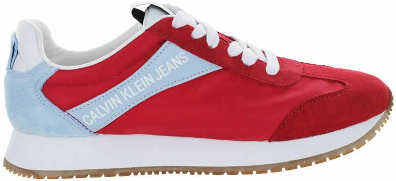 Buty sportowe damskie Calvin Klein Jill czerwoneR8527 RACING RED/BLUE