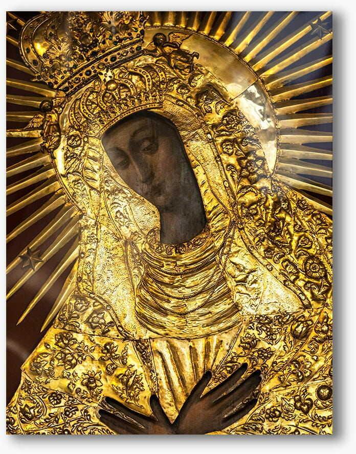 Matka Boża Ostrobramska, nowoczesny obraz religijny plexi