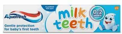 Aquafresh Milk Teeth pasta do zębów dla dzieci 0-2 lata 50 ml