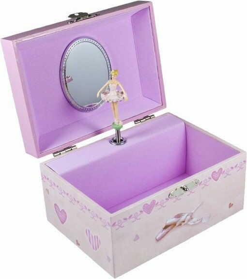 Pudełko na biżuterię prostokątne balerina