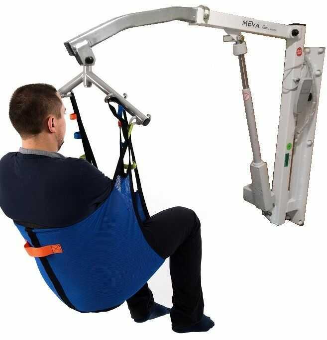 Podnośnik pacjenta ścienny MEVA LIFTER, dwa mocowania z podwieszką (130kg udźwigu)