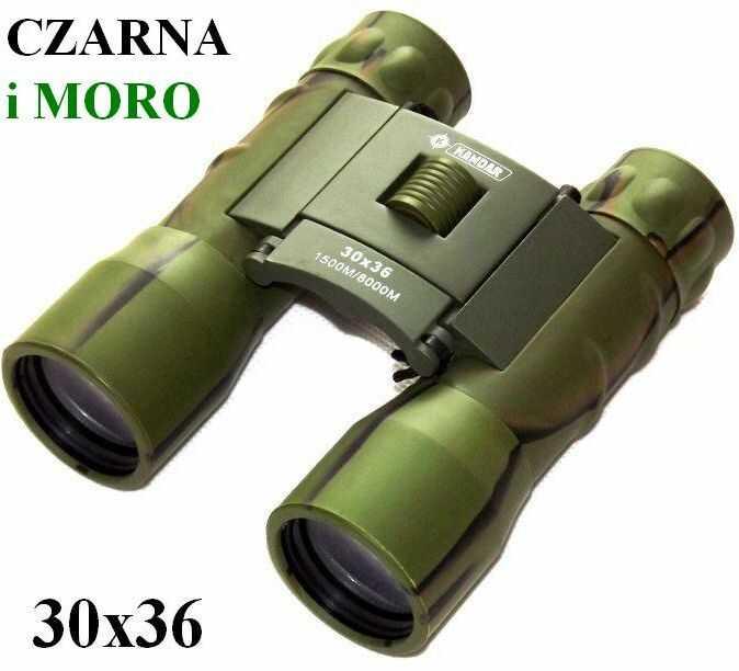 Oryginalna Kompaktowa Lornetka KANDAR 30x36 (w 2 kolorach do wyboru) + Pokrowiec i Akcesoria.