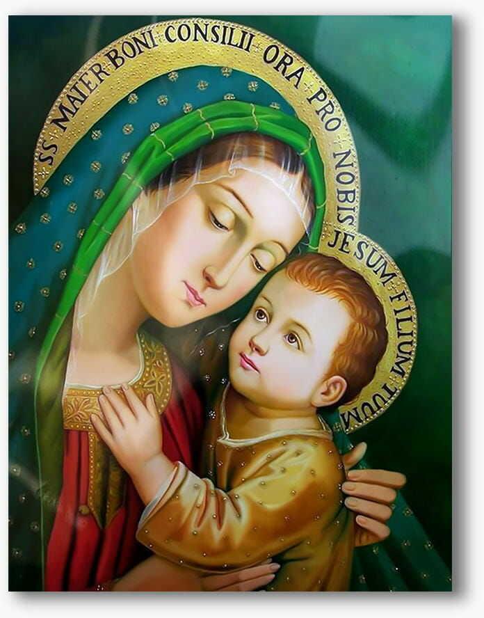 Matka Boża Dobrej Rady, nowoczesny obraz religijny plexi