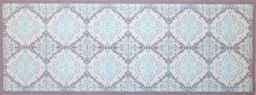 """oKu-Tex Wycieraczka mata zatrzymująca brud wzór mozaikowy retro """"Deco-Style"""" wycieraczka do drzwi wewnątrz antypoślizgowa, szara/jasnoniebieska 45 x 120 cm"""