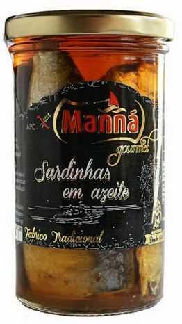 Portugalskie sardynki w oliwie Manná GOURMET słoik 250g