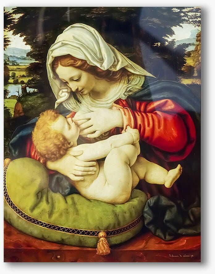 Matka Boża Karmiąca, nowoczesny obraz religijny plexi