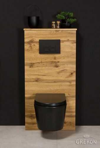 Zabudowa stelaża WC kolor naturalny dąb, Gante New York