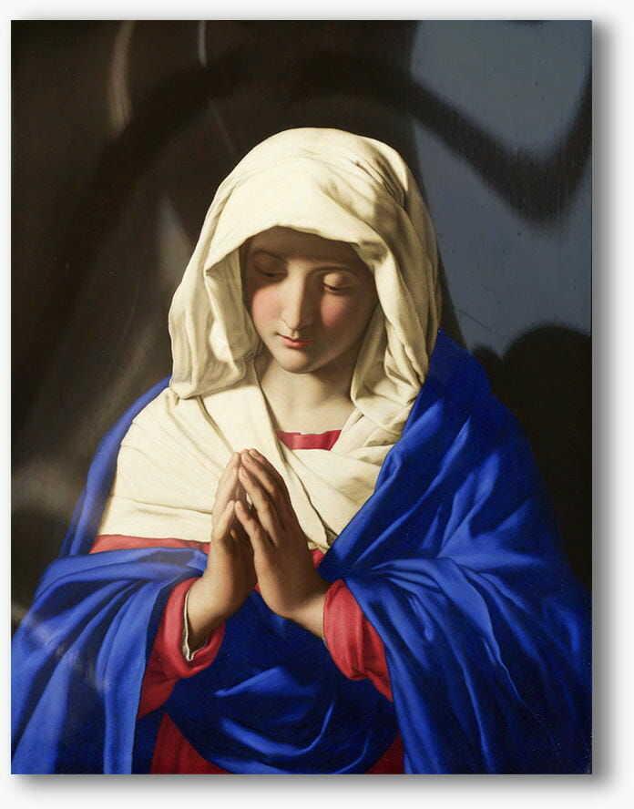 Matka Boża w modlitwie, nowoczesny obraz religijny plexi