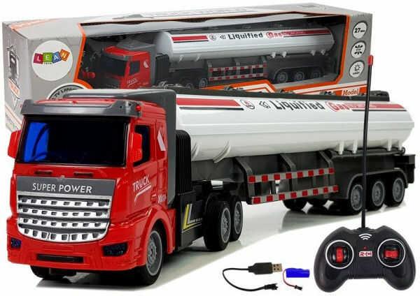 Ciężarówka Cysterna Gaz Zdalnie Sterowana 27 Mhz 1:48 Biała