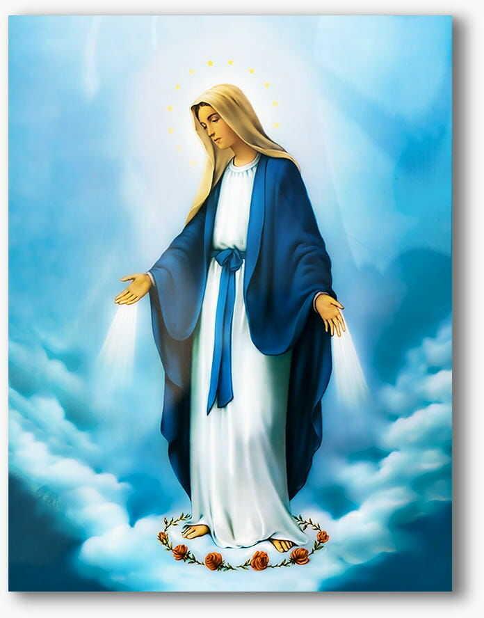 Matka Boża Niepokalana, nowoczesny obraz religijny plexi