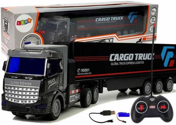 Ciężarówka Dostawcza Zdalnie Sterowana 27 Mhz 1:48 Czarna