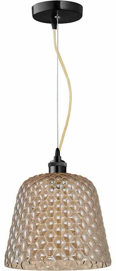 Milagro RIO ML5554 lampa wisząca klosz zaokrąglony kształt z ozdobnymi wytłoczeniami 1xE27 25cm