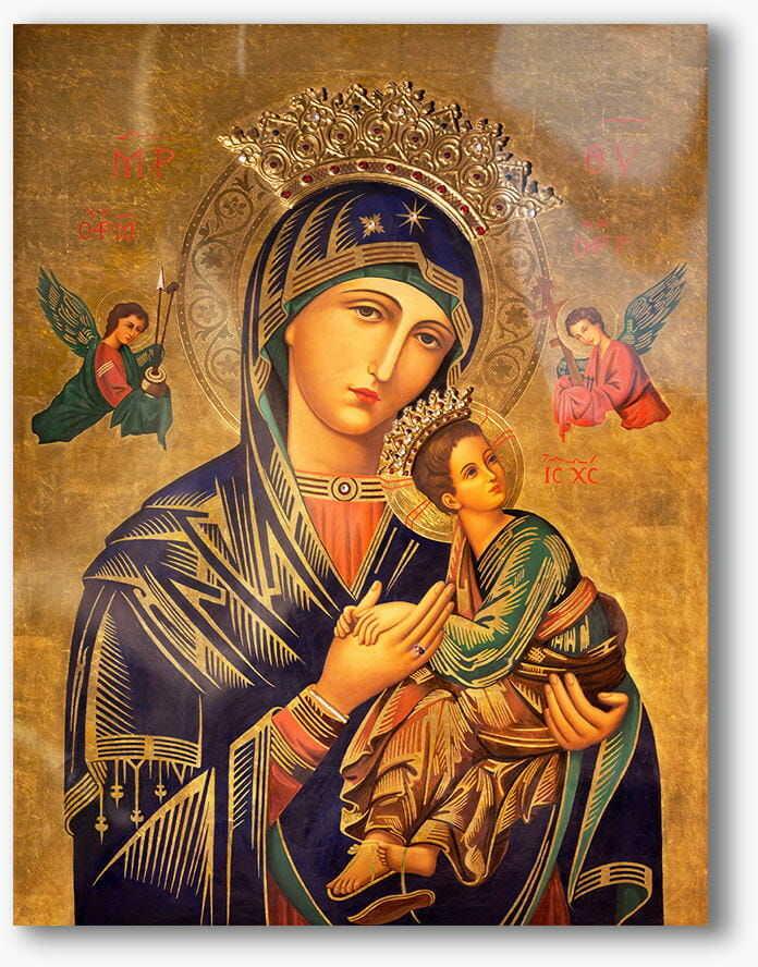 Matka Boża Nieustającej Pomocy, nowoczesny obraz religijny plexi